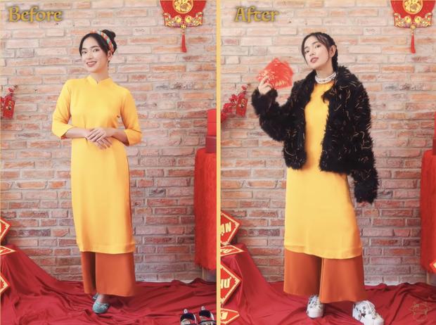 Châu Bùi chỉ cách diện áo dài Tết: Phá cách, độc lạ nhưng không phải bánh bèo nào cũng dám học theo - Ảnh 9.