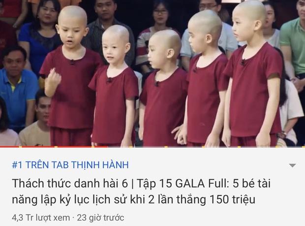 Clip 5 chú tiểu thi Thách thức danh hài soán ngôi top 1 Trending YouTube của bố già Trấn Thành chưa đầy 1 ngày lên sóng - Ảnh 3.