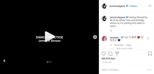 Tâm lý như Rosé và Jennie (BLACKPINK): Sinh nhật mình nhưng người thì cover nhạc, người đăng clip tập nhảy làm quà đáp lại fan - Ảnh 4.