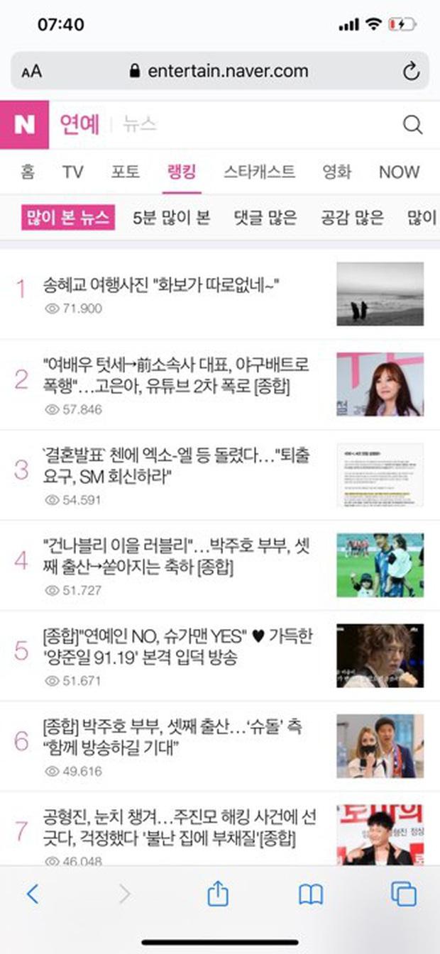 Song Hye Kyo leo lên top 1 Naver từ đêm qua giữa thời điểm chồng cũ bị đồn dính đến bê bối săn gái chấn động - Ảnh 4.