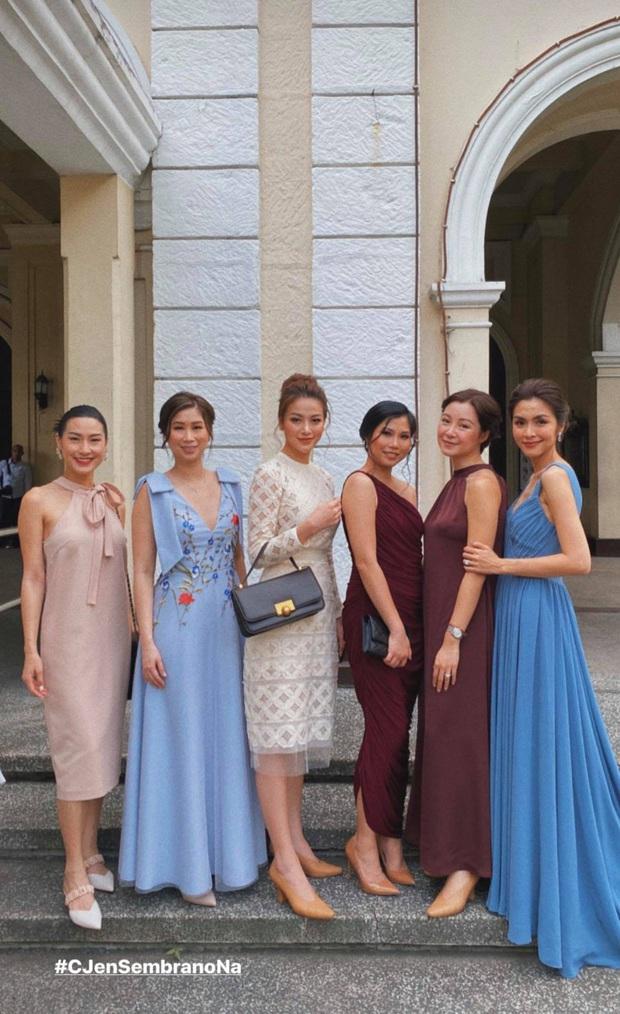 Hà Tăng khoe sắc bên Louis Nguyễn trong tiệc cưới gia đình triệu đô, thân hình gầy gò của ngọc nữ gây chú ý lớn - Ảnh 2.