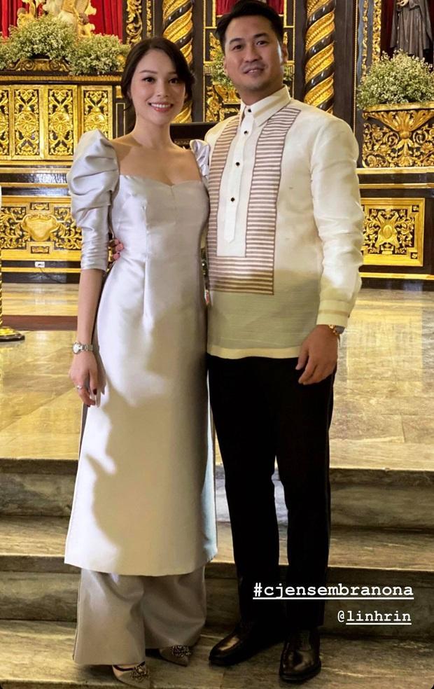 Hà Tăng khoe sắc bên Louis Nguyễn trong tiệc cưới gia đình triệu đô, thân hình gầy gò của ngọc nữ gây chú ý lớn - Ảnh 3.