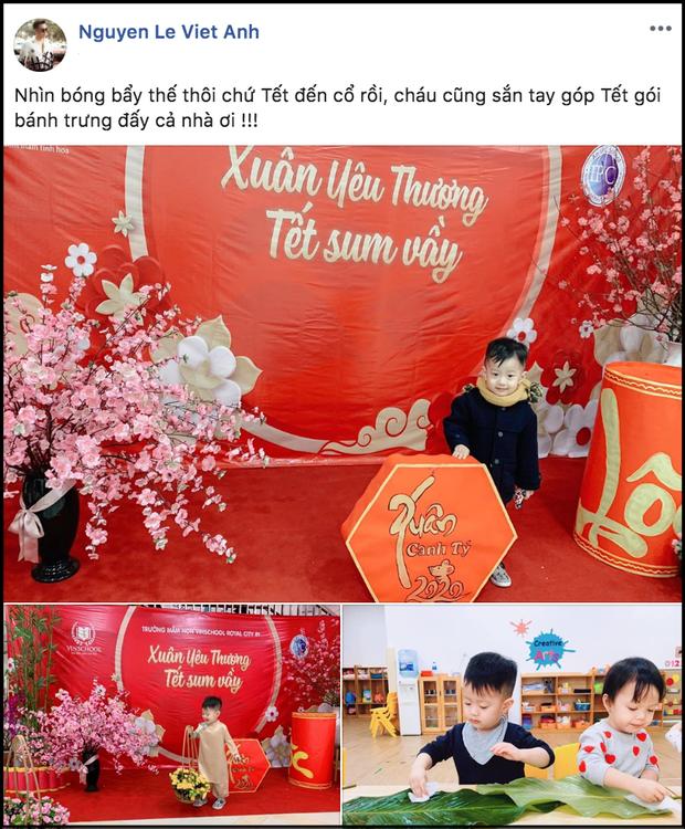 Việt Anh và vợ cũ bất ngờ tái hợp sau 7 tháng ly hôn, cùng đưa con trai tới trường dự ngày hội cuối năm - Ảnh 1.