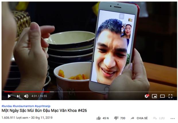 """Quay clip mukbang chấm mọi thứ với mắm tôm, Quỳnh Trần JP không quên """"lăng xê"""" cho quán bún đậu của Mạc Văn Khoa - Ảnh 4."""
