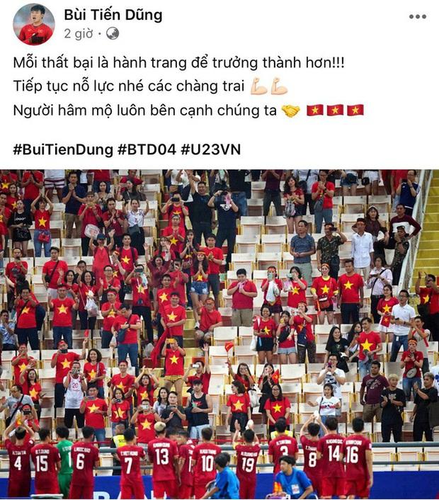 """Trung vệ Tiến Dũng lên tiếng động viên đồng đội sau bàn thua trước đội tuyển CHDCND Triều Tiên: """"Thất bại để trưởng thành hơn - Ảnh 1."""