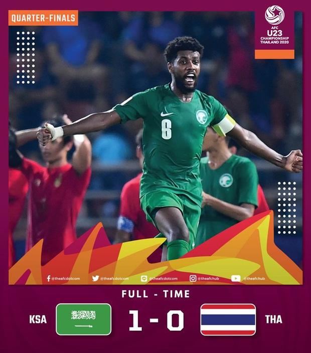 U23 Thái Lan 0-1 U23 Saudi Arabia: Chủ nhà chính thức bị loại sau pha penalty đầy tranh cãi - Ảnh 1.