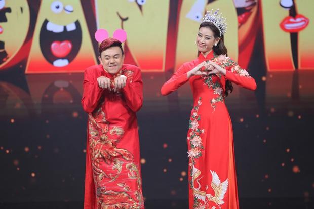 Hoa hậu Khánh Vân mang vương miện tiền tỷ lên sân khấu làm MC - Ảnh 3.