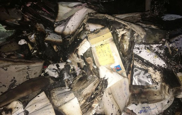 Hiện trường vụ cháy tòa nhà dầu khí Thanh Hóa khiến 2 người chết, 13 người bị thương - Ảnh 5.