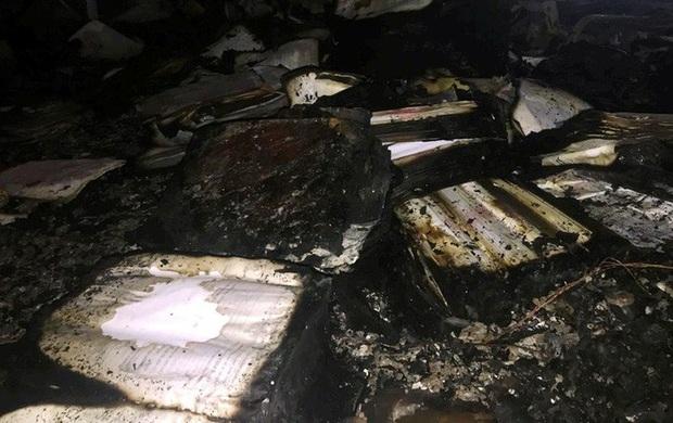 Hiện trường vụ cháy tòa nhà dầu khí Thanh Hóa khiến 2 người chết, 13 người bị thương - Ảnh 6.