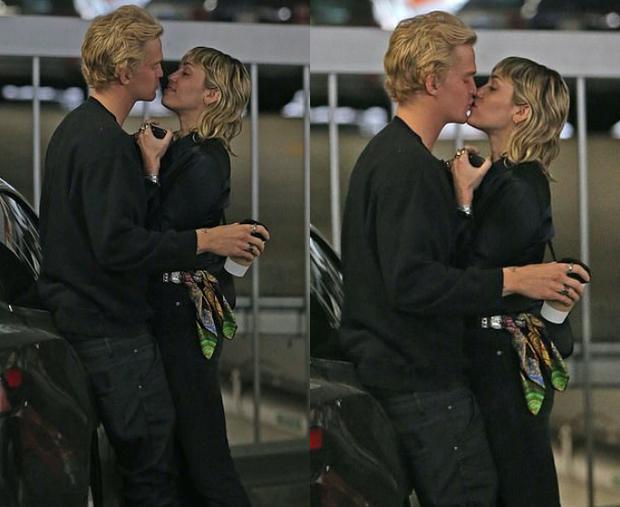 """Chỉ 1 ngày sau khi chồng cũ lộ ảnh tình tứ với bồ mới, Miley Cyrus cũng công khai ôm hôn bạn trai trên phố: """"Drama"""" ăn miếng trả miếng vẫn chưa có hồi kết? - Ảnh 4."""