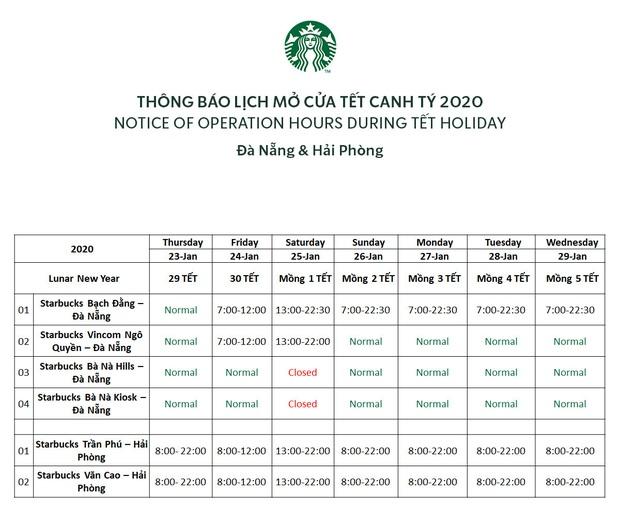 Starbucks công bố lịch nghỉ Tết âm: hầu hết đều mở cửa xuyên Tết, dân tình tha hồ chỗ đi chơi nhé! - Ảnh 8.