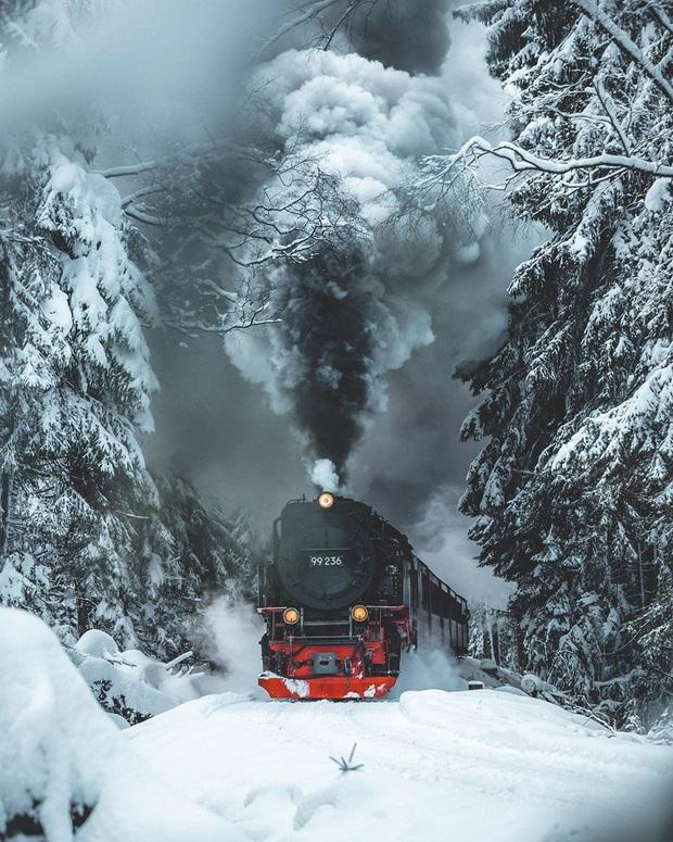 Chùm ảnh mùa đông băng tuyết trắng xóa phủ khắp vạn vật đẹp đến mê hồn, trông như khung cảnh trong truyện cổ tích - Ảnh 3.