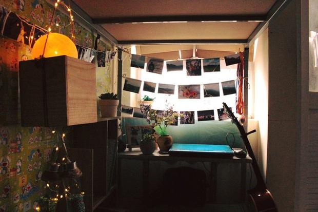 Trang trí giường KTX chưa đến 15m2 thành căn phòng siêu dễ thương, nam sinh khéo tay khiến hội chị em nổ inbox xin làm người yêu - Ảnh 7.