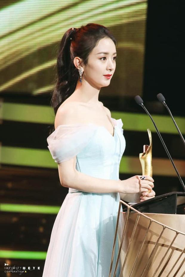 Triệu Lệ Dĩnh gây sốt với visual quá đỉnh tại Tencent Awards: Gái một con trông mòn con mắt là đây! - Ảnh 3.