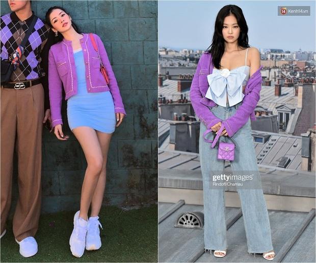 Diện áo giống Jennie nhưng body 0% mỡ thừa của Chi Pu mới là điều đáng trầm trồ - Ảnh 5.