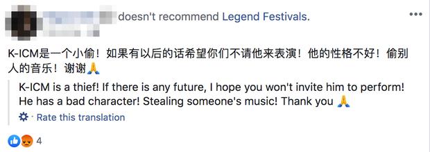 Cư dân mạng tràn vào công kích fanpage lễ hội âm nhạc quốc tế mời K-ICM biểu diễn, buộc BTC phải xoá bài đăng? - Ảnh 3.