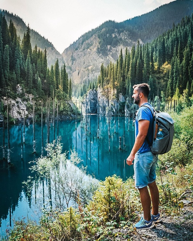 Hồ nước với những thân cây mọc ngược lên trời rùng rợn nhất thế giới, tìm ra nguyên nhân hiện tượng lạ ai cũng bất ngờ - Ảnh 1.