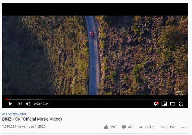 Cùng ra mắt MV ngay ngày đầu năm: chỉ duy nhất Binz leo top trending, Midu view khủng nhưng bị YouTube quên, Khả Ngân không được như kỳ vọng? - Ảnh 1.