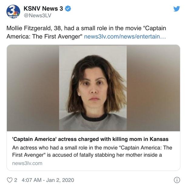 SỐC: Nữ minh tinh Captain America bị bắt khẩn cấp vì đâm chết mẹ ruột, liệt vào diện tội phạm giết người cấp độ 2 - Ảnh 1.