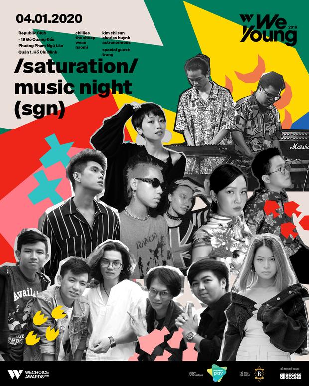 Biết gì chưa: Trang sẽ là khách mời đặc biệt tại WeYoung: /saturation/, cùng Chillies, The Sheep... mang đến bữa tiệc âm nhạc Indie chất nhất tại TP.HCM - Ảnh 1.
