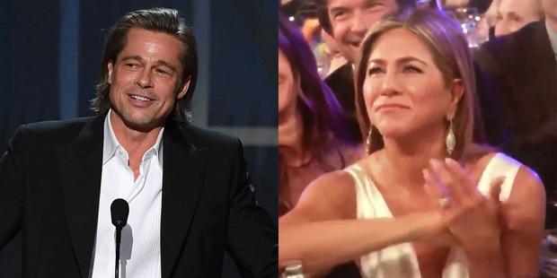 3 khoảnh khắc đáng nhớ của SAG Awards 2020: Brad Pitt nhìn Jennifer Aniston âu yếm, tình cũ cùng rủ tái hợp tới nơi rồi? - Ảnh 7.