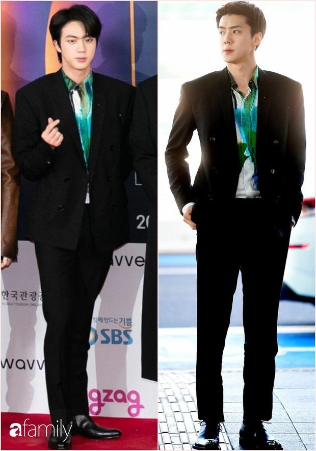 Hai mỹ nam BTS và EXO đại chiến khi đụng nguyên cây đồ, netizen nhận định: Người như tổng tài, người chuẩn thiếu gia nhà tài phiệt - Ảnh 4.