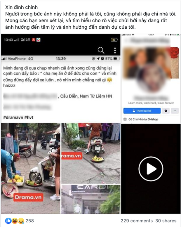 Cô gái điêu đứng, bị dân mạng chửi bới dữ dội vì hiểu nhầm là người phụ nữ chạy xe máy cán nát nia trái cây của người bán hàng rong - Ảnh 2.