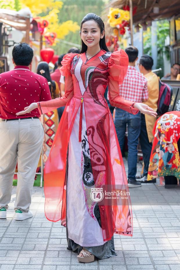 Lương Mỹ Kỳ diện áo dài đỏ rực, tươi tắn đón cái Tết đầu tiên hậu chuyển giới - Ảnh 12.