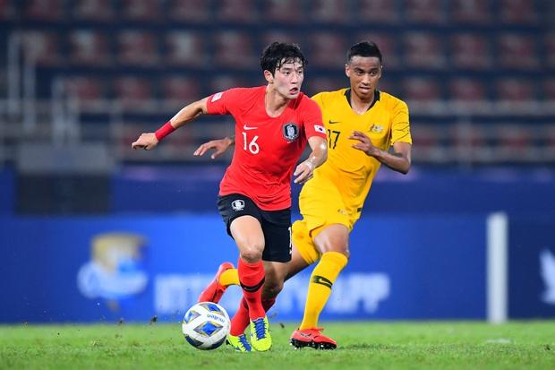 U23 Australia 0-2 U23 Hàn Quốc: Siêu dự bị tỏa sáng, dàn hot boy xứ sở kim chi dễ dàng giành vé vào chung kết - Ảnh 5.