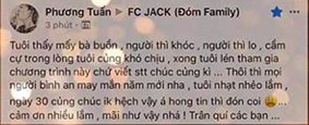 Mặc kệ mẹ nuôi đã lên tiếng sau scandal, Jack chỉ lặng lẽ viết tâm thư động viên và gửi lời chúc năm mới tới fan riêng - Ảnh 1.