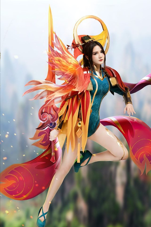 Liên Quân Mobile: Trang phục Tết Canh Tý Butterfly Phượng Cửu Thiên có bộ cosplay xinh đẹp tựa thiên thần, ngắm mãi chẳng chán! - Ảnh 9.