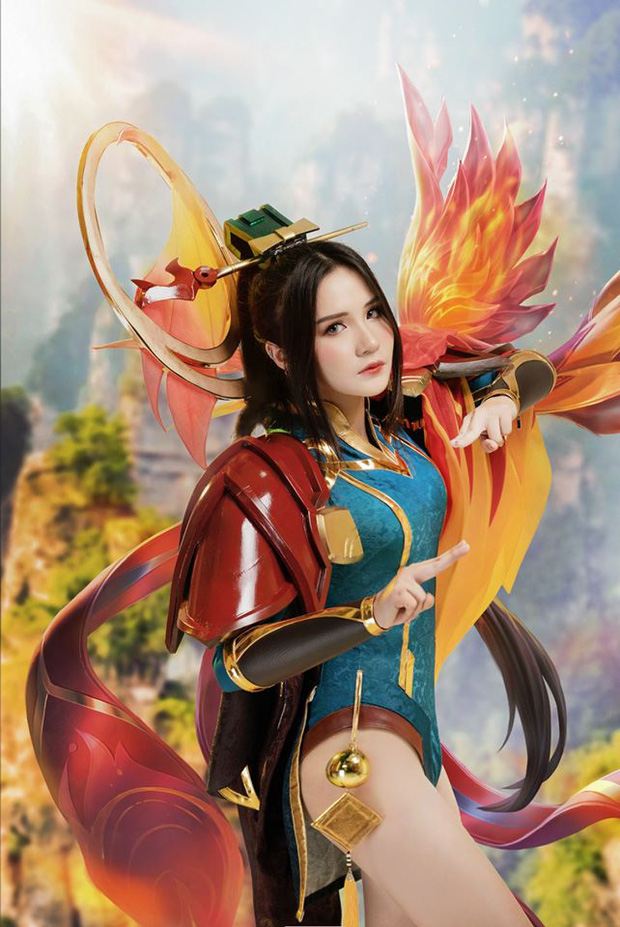 Liên Quân Mobile: Trang phục Tết Canh Tý Butterfly Phượng Cửu Thiên có bộ cosplay xinh đẹp tựa thiên thần, ngắm mãi chẳng chán! - Ảnh 11.