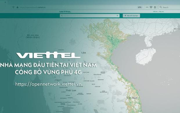 Viettel công bố bản đồ phủ sóng 4G, người Việt nay đã kiểm tra được chất lượng mạng 4G mình đang sử dụng - Ảnh 1.