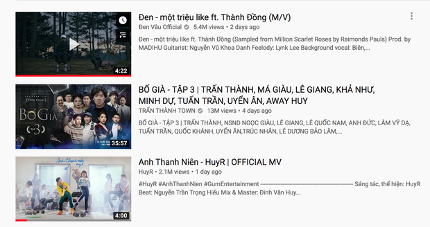 Đe doạ cả Trấn Thành lẫn Đen Vâu, Anh Thanh Niên HuyR cạnh tranh top trending quyết liệt dù chỉ mới tung MV chưa đầy 24h - Ảnh 3.