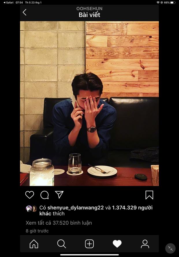 Đăng ảnh rinh ngay triệu like, Sehun (EXO) lại gây hoang mang vì biểu cảm đáng lo sau ồn ào Chen cưới vợ - Ảnh 1.