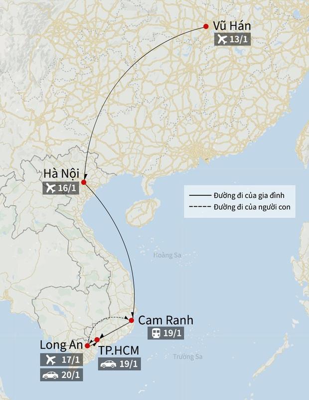 2 bố con người Trung Quốc nhiễm virus corona đã đi qua bao nhiêu tỉnh thành ở Việt Nam? - Ảnh 3.