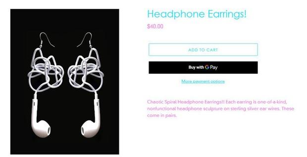 Đang yên đang lành bỗng nổi lên trend khuyên tai làm từ EarPods rối dây, giá tận gần 1 triệu đồng - Ảnh 5.