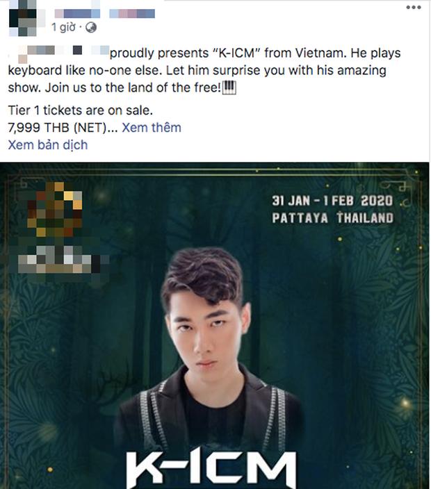 Quá đen cho đội của K-ICM: lễ hội âm nhạc mà anh chàng chuẩn bị biểu diễn tại Thái Lan bị hủy bỏ ngay giờ chót vì virus lạ nguy hiểm! - Ảnh 3.