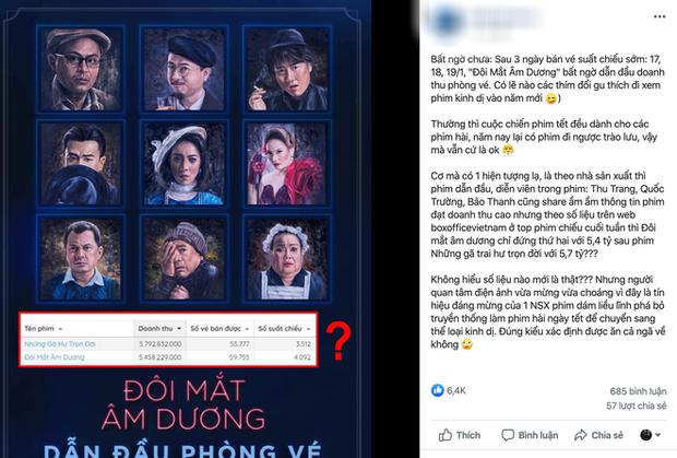 Netizen đặt nghi án ekip Đôi Mắt Âm Dương khai lố doanh thu: Nhưng khoan đã, soi kĩ màn bóc phốt này có đáng tin? - Ảnh 1.