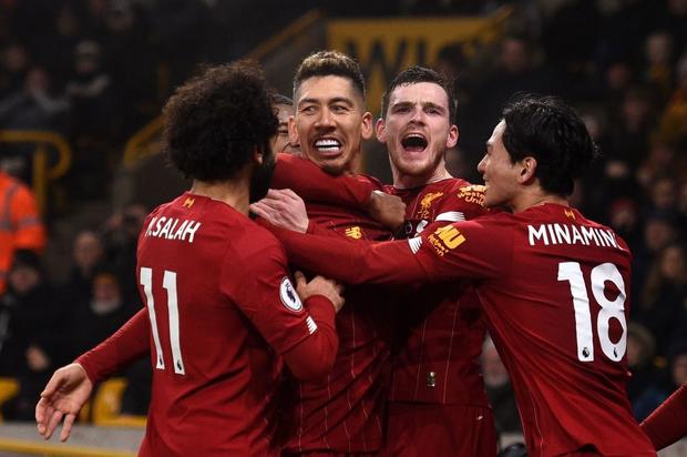 Xé lưới Wolves ở những phút cuối cùng, Firmino giúp Liverpool giữ vững ngôi đầu bảng Ngoại hạng Anh