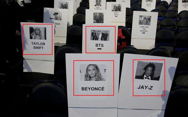 Tiết lộ chỗ ngồi khủng của BTS tại Grammy 2020: Cạnh Taylor Swift, còn sau ngay cặp vợ chồng quyền lực bậc nhất Hollywood - Ảnh 1.