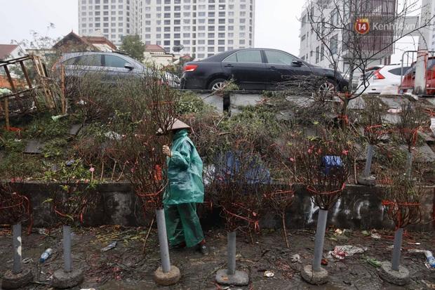 Chợ hoa Quảng An ngập trong rác, nhiều người vẫn tranh thủ đội mưa đi mua hoa Tết - Ảnh 16.