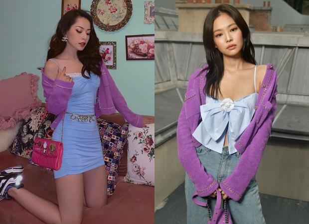 """Pha đụng hàng 30 Tết: Chi Pu diện áo nơ giống Jennie, Phượng Chanel nhưng mix đồ """"cute hột me"""" quá mức quy định - Ảnh 4."""