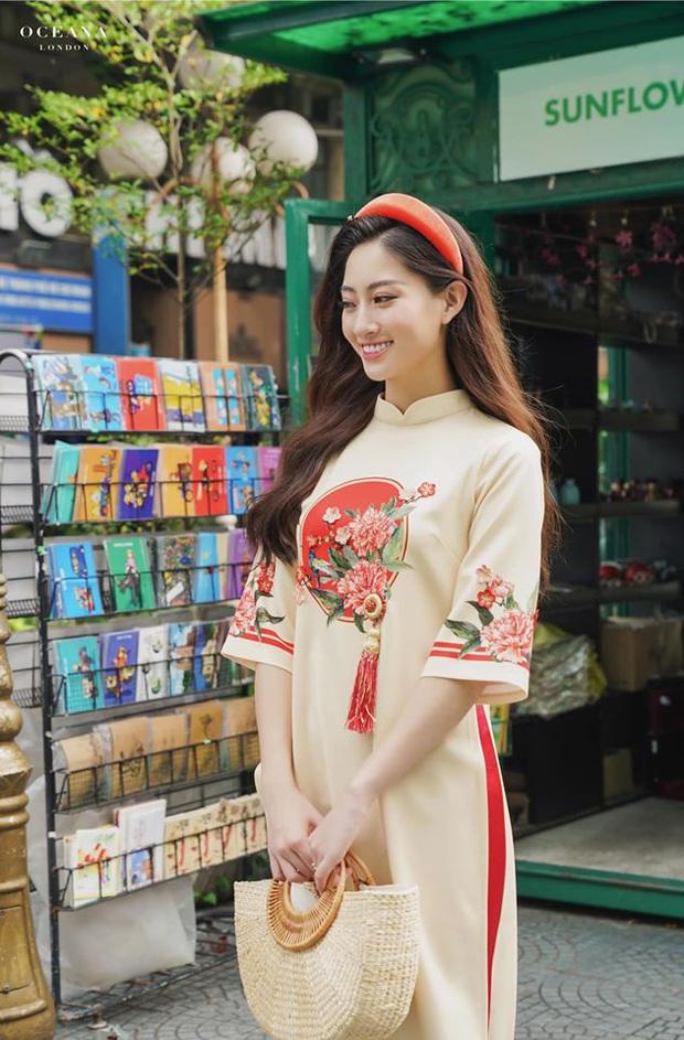 Cùng với các người đẹp Việt, dàn hậu cung VTV cũng khoe sắc trong những tà áo dài duyên dáng đón Xuân về - Ảnh 10.