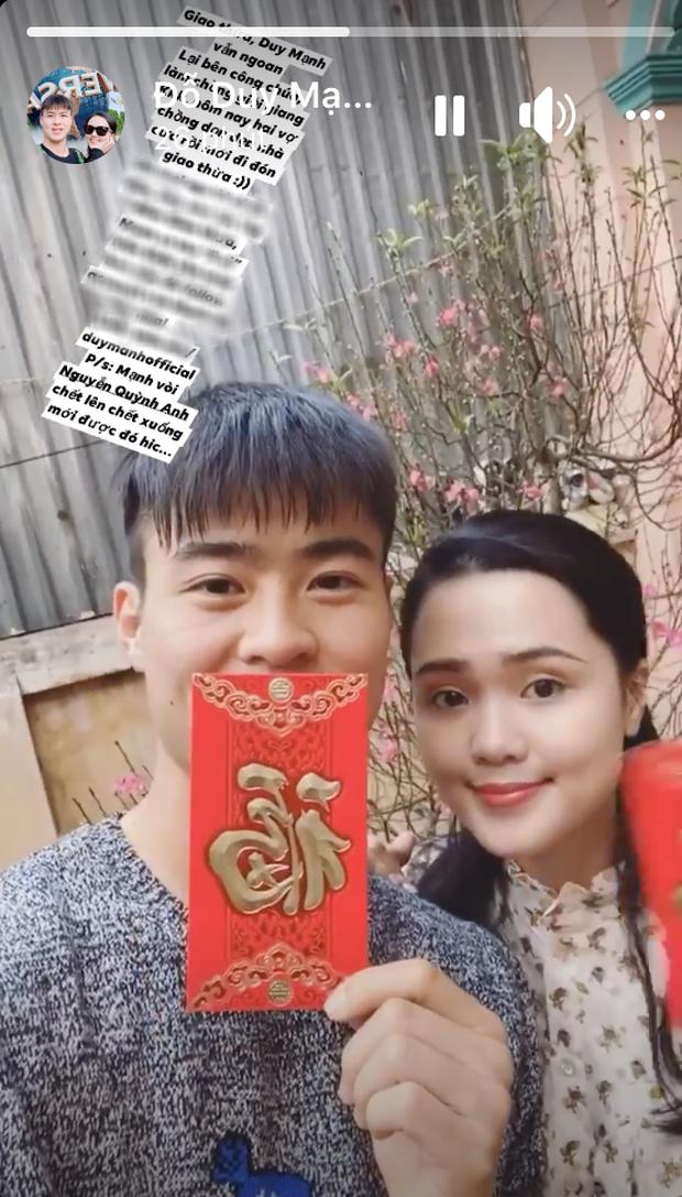 Đôi vợ chồng tuổi Tý Duy Mạnh và Quỳnh Anh hạnh phúc bên nhau, cùng dọn nhà, cùng chuẩn bị lì xì mừng năm mới - Ảnh 2.