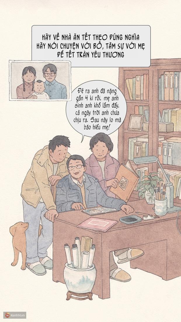 Bộ tranh: Đã về nhà ăn Tết thì hãy dành thời gian bên bố mẹ, tạm tha cho cái điện thoại đi - Ảnh 8.