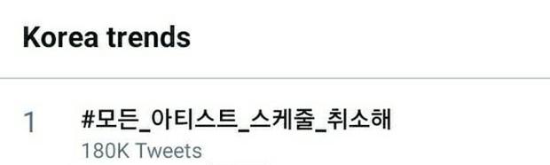 Hashtag yêu cầu công ty giải trí hủy lịch trình nghệ sĩ trước sự nguy hiểm của virus Corona đạt top 1 trending tại Hàn Quốc - Ảnh 1.