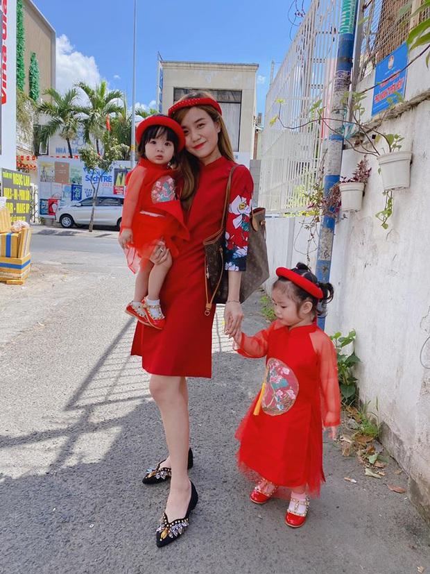 Dàn nhóc tỳ Vbiz lên đồ rực rỡ trong ngày đầu Xuân mới: Áo dài đỏ truyền thống mang hi vọng may mắn được lựa chọn nhiều nhất! - Ảnh 3.