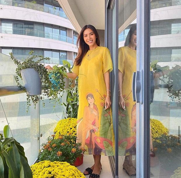 Sao Vbiz đồng loạt chọn Áo dài xuống phố mùng 1: Cả năm áo váy hàng hiệu rồi, cứ Tết về với truyền thống là chuẩn nhất! - Ảnh 12.