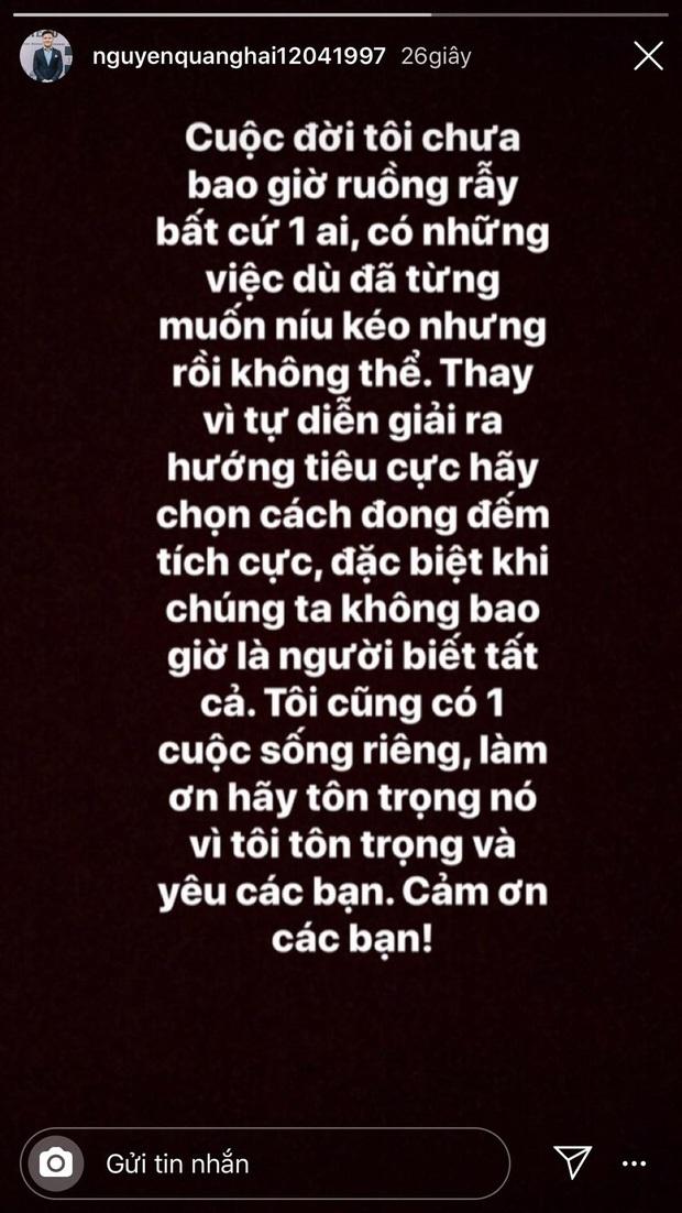 Quang Hải lại tương tác với Nhật Lê trên Instagram: Đã quay lại hay vẫn là bạn bè sau chia tay? - Ảnh 2.